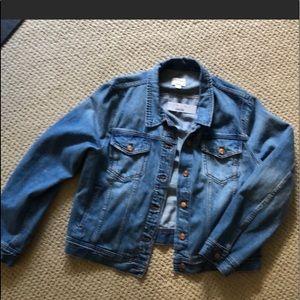 Jcrew cropped denim jean jacket XXL